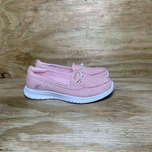 Skechers Air-Cooled Memory Foam Shoes Women's Size 6.5 Pink Slip On Loafer 23664